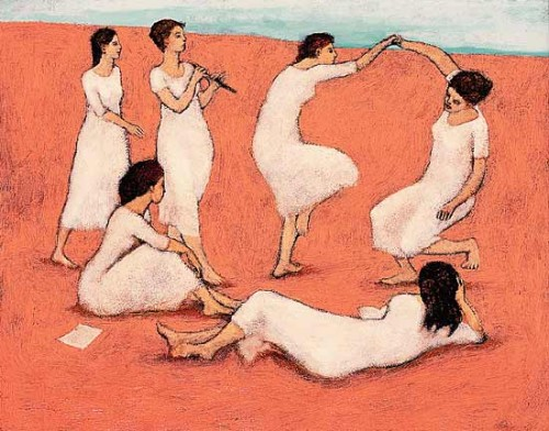 """Women Out Of Danger"" by Brian Kershisnik"