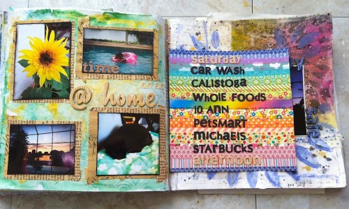 art journal pages - early february