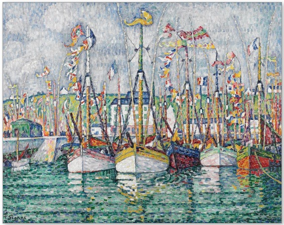 blessing of the fleet by paul signac, 1923