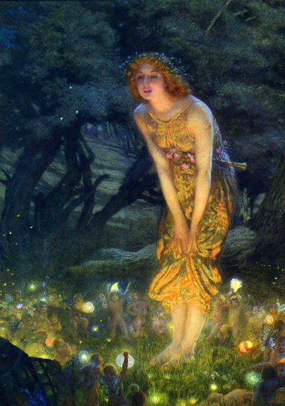 """Midsummer Eve"" by Edward Robert Hughes"