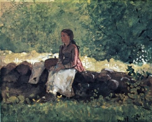 "Winslow Homer - ""On the Fence"""