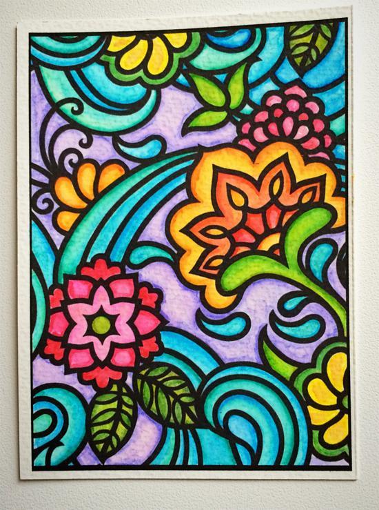 paisley watercoloring project