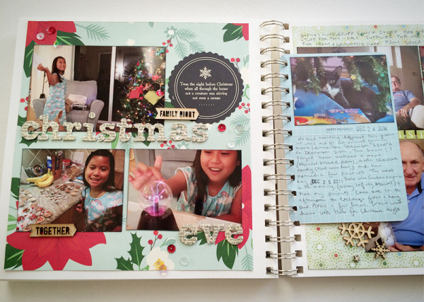 scrapbook pages fall/winter 2014