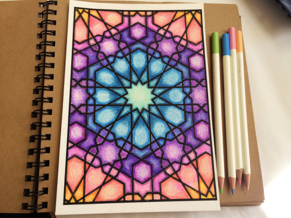 coloring with Tombow Irojiten Color Pencils
