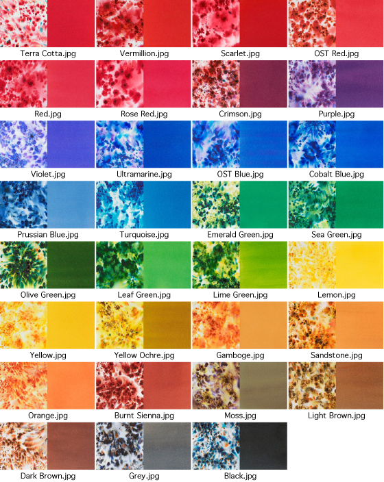 Brusho Color Chart
