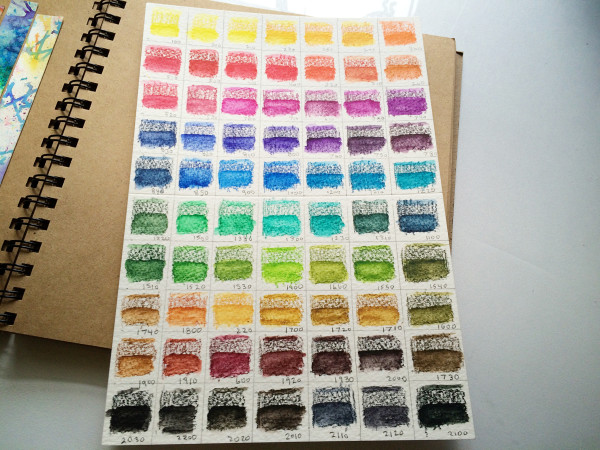 Inktense Color Chart