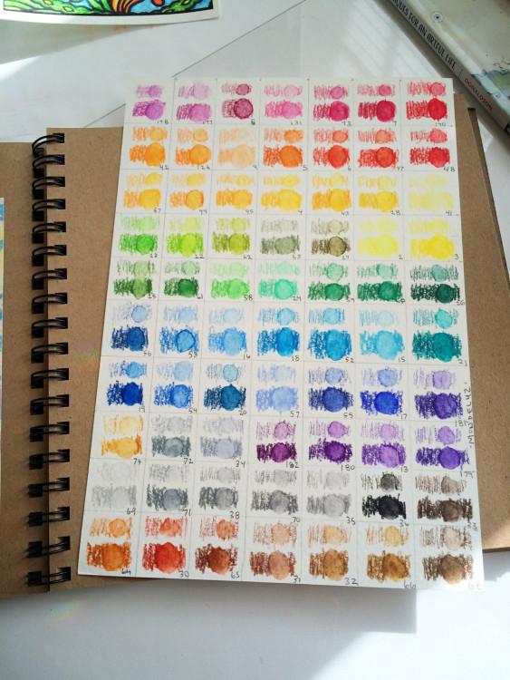 Mondeluz Watercolor Pencil Color Chart