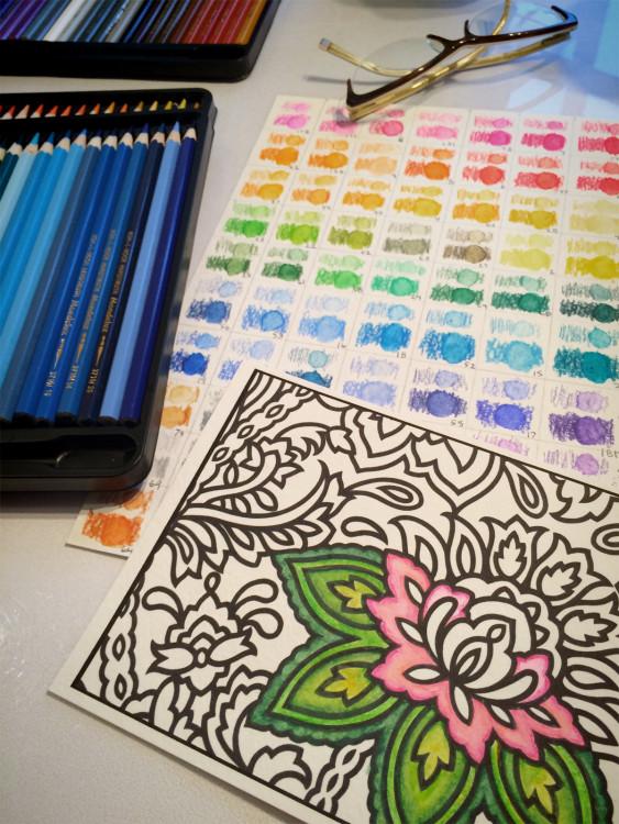 paisley watercoloring with Mondeluz