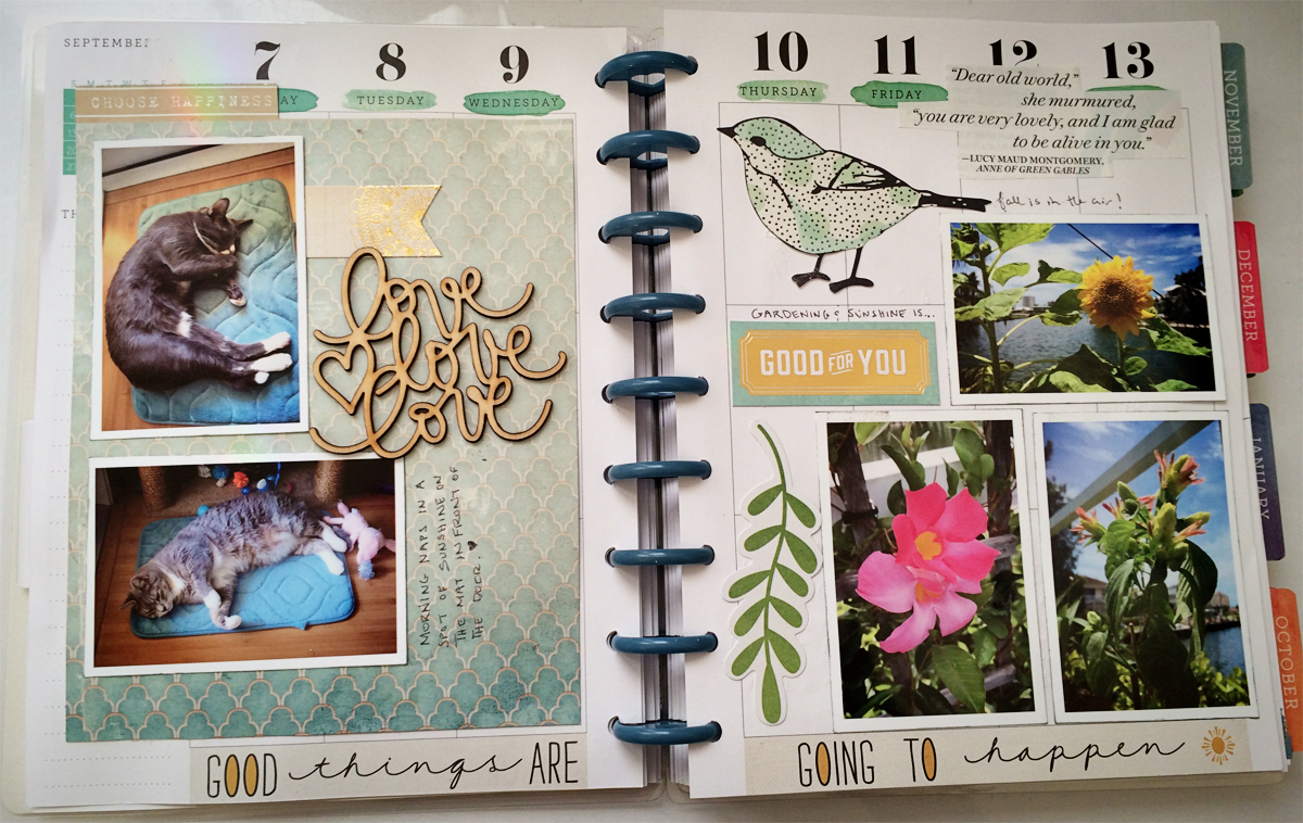Scrapbook ideas for elderly - Planner Pages