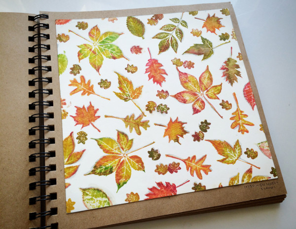 Fall Leaves Stamping Project
