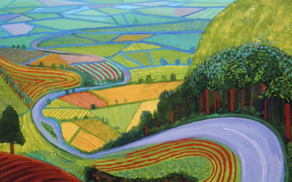 "David Hockney ""Garrowby Hill"" 1998"
